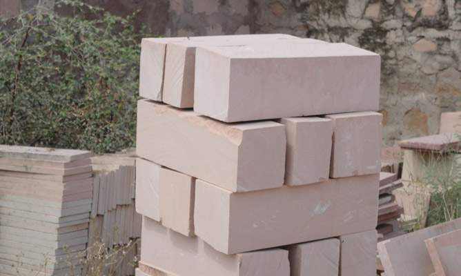 Pink Sandstone Bricks