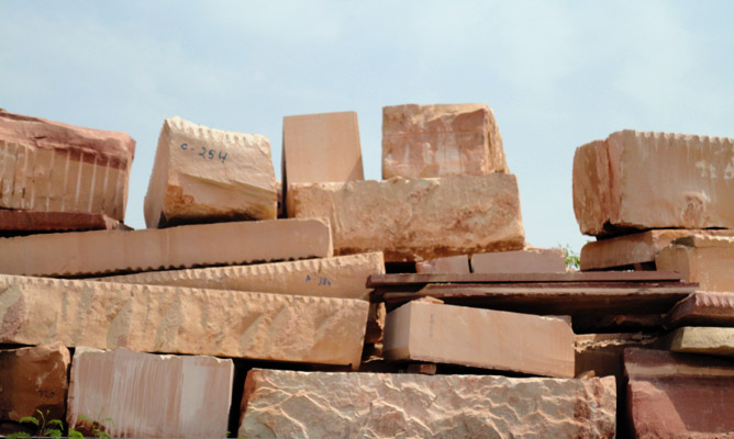Pink Sandstone Raw Blocks