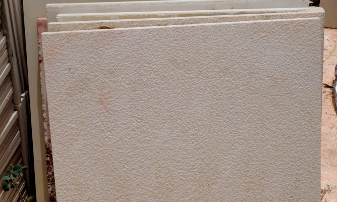 Dholpur Beige Shot Blasted Tiles