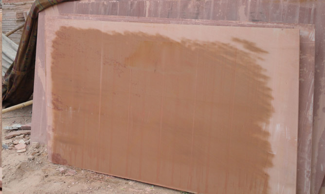 Wet Pink Sandstone Slabs